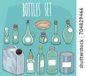 mockup set of different empty... | Shutterstock . vector #704829466