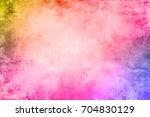colorful scratched vintage... | Shutterstock . vector #704830129