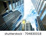 modern office building detail ... | Shutterstock . vector #704830318