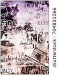 paris  france. vintage... | Shutterstock . vector #704831266