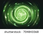 abstract fractal green... | Shutterstock . vector #704843368