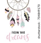 boho template with... | Shutterstock .eps vector #704849170