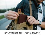 close up hand's man is picking... | Shutterstock . vector #704850244