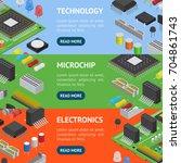 computer electronic circuit... | Shutterstock .eps vector #704861743