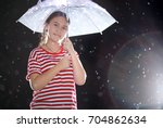 cute little girl with a...   Shutterstock . vector #704862634