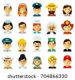 people occupation characters... | Shutterstock .eps vector #704866330