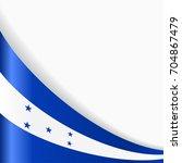 honduras flag wavy abstract... | Shutterstock . vector #704867479