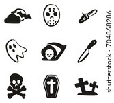horror icons freehand fill | Shutterstock .eps vector #704868286