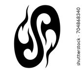 tattoo tribal vector design....   Shutterstock .eps vector #704868340