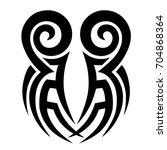 tattoo tribal vector design.... | Shutterstock .eps vector #704868364