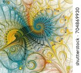 abstract colorful spiral... | Shutterstock . vector #704869930