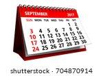 3d Illustration Of September...