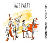poster or album cover for jazz... | Shutterstock .eps vector #704874784