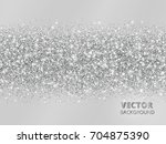 sparkling glitter border on... | Shutterstock .eps vector #704875390