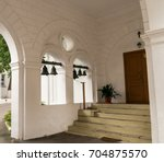 the view of the inner yard of... | Shutterstock . vector #704875570