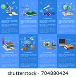 biology and chemistry classes ... | Shutterstock .eps vector #704880424