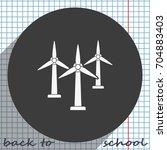 wind electricity generators... | Shutterstock .eps vector #704883403