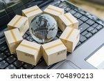 international freight or... | Shutterstock . vector #704890213
