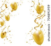celebration party banner with... | Shutterstock .eps vector #704891959