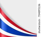 thai flag wavy abstract...   Shutterstock . vector #704895136