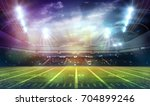 american football stadium 3d. | Shutterstock . vector #704899246