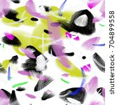 seamless art painter abstract... | Shutterstock . vector #704899558