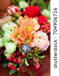Autumn Wedding Bouquet With...