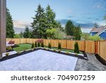 luxury new construction home... | Shutterstock . vector #704907259
