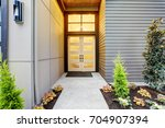 entry porch of new construction ... | Shutterstock . vector #704907394