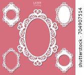 laser cut vector frame... | Shutterstock .eps vector #704907514
