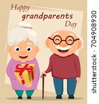 grandparents day greeting card. ... | Shutterstock . vector #704908930