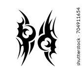 tribal tattoo art designs.... | Shutterstock .eps vector #704911654