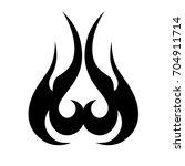 tribal tattoo art designs.... | Shutterstock .eps vector #704911714