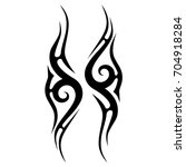 tattoo tribal vector design.... | Shutterstock .eps vector #704918284
