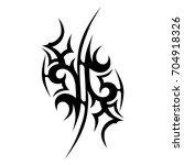 tattoo tribal vector design.... | Shutterstock .eps vector #704918326