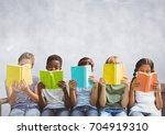 digital composite of group of... | Shutterstock . vector #704919310