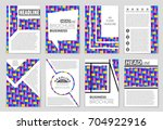 abstract vector layout... | Shutterstock .eps vector #704922916