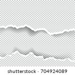 ripped paper transparent with... | Shutterstock .eps vector #704924089