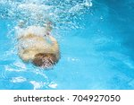young caucasian red hair boy... | Shutterstock . vector #704927050