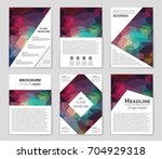 abstract vector layout... | Shutterstock .eps vector #704929318