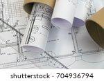 plans of building | Shutterstock . vector #704936794