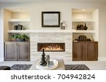 family room design with... | Shutterstock . vector #704942824