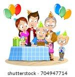 vector illustration of family... | Shutterstock .eps vector #704947714