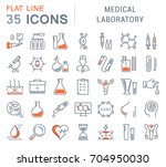 set of line icons  sign and... | Shutterstock . vector #704950030