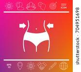 women waist  weight loss  diet  ... | Shutterstock .eps vector #704951698