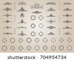 vintage decor elements and... | Shutterstock .eps vector #704954734