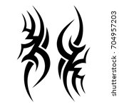 tattoo tribal vector design.... | Shutterstock .eps vector #704957203