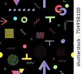 trendy geometric elements... | Shutterstock .eps vector #704958100