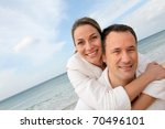 couple relaxing in bathrobe at... | Shutterstock . vector #70496101