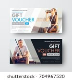 design of a vector gift voucher ... | Shutterstock .eps vector #704967520